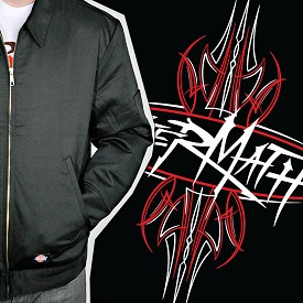 Aftermath Jacket - Pinstripe Fabric Filled Logo