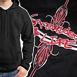 Grounded 4 Life Hoodie - Pinstripe
