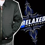 Relaxed Atmosphere Jacket - Pinstripe Logo Over-sized Embroidery