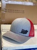 Shift Hat - Heather Grey/Red Leather Patch - In Stock!